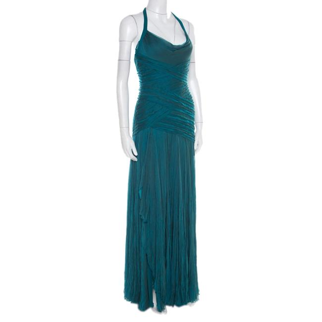 Green Maxi Dress by Victoria Emerson Detail Halter Image 2