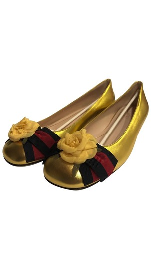 Gucci Metallic Gold Flats Image 0