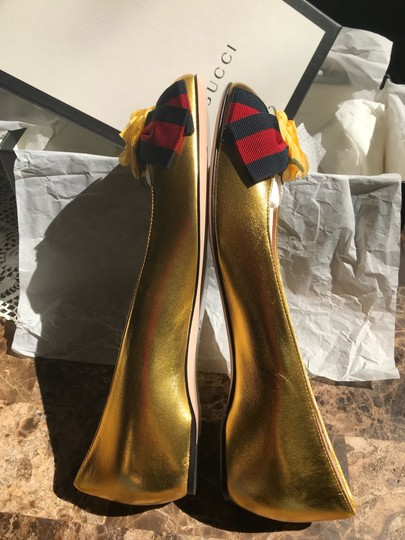 Gucci Metallic Gold Flats Image 2