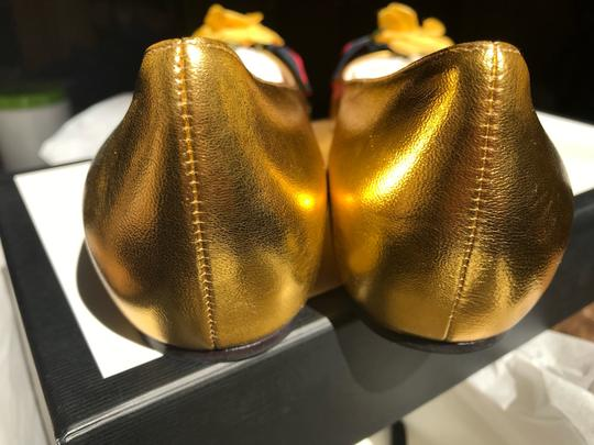 Gucci Metallic Gold Flats Image 5
