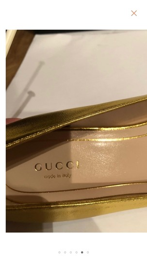 Gucci Metallic Gold Flats Image 7