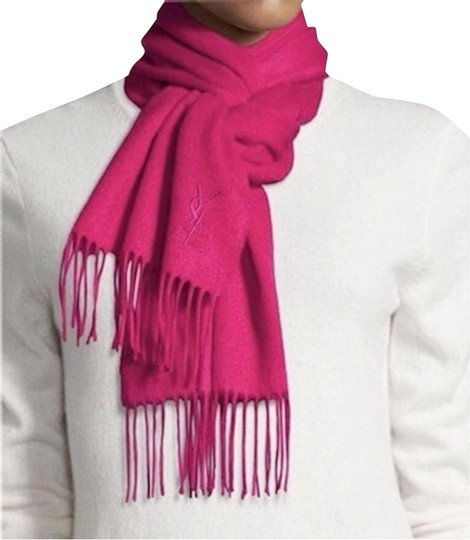 Preload https://img-static.tradesy.com/item/25703771/saint-laurent-pink-wool-cashmere-blend-scarfwrap-0-1-540-540.jpg