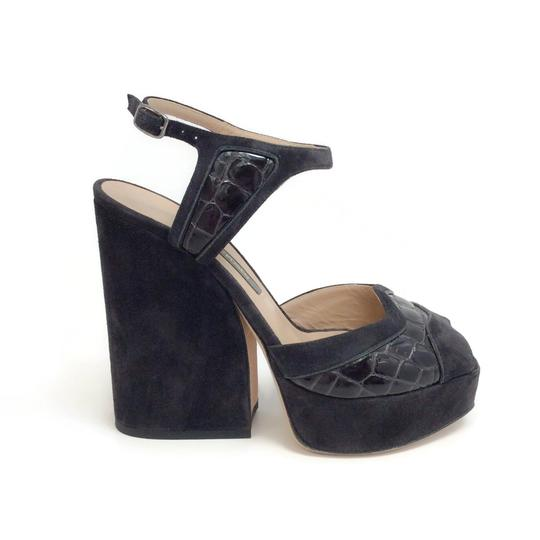 Zac Posen Dark Grey Sandals Image 1