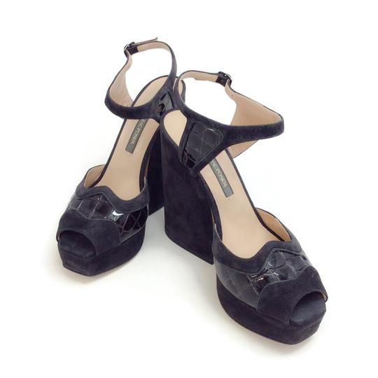 Zac Posen Dark Grey Sandals Image 5