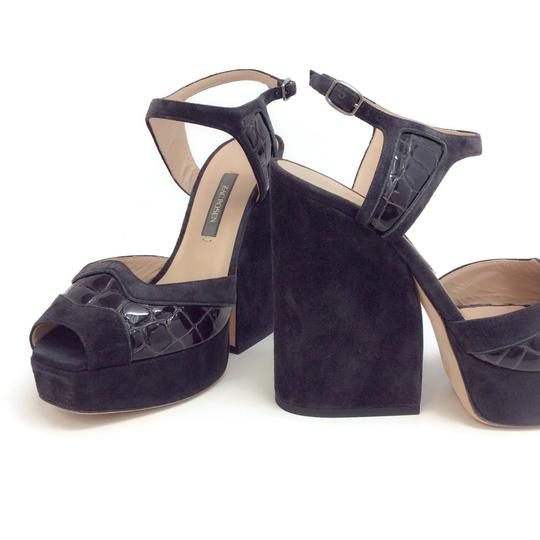 Zac Posen Dark Grey Sandals Image 6