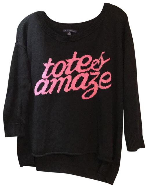 Preload https://img-static.tradesy.com/item/25703802/american-eagle-outfitters-1166229126-black-and-hot-pink-sweater-0-3-650-650.jpg