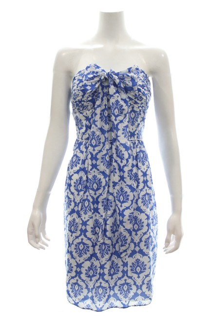 Preload https://img-static.tradesy.com/item/25703817/laundry-by-shelli-segal-blue-and-white-floral-tube-mid-length-cocktail-dress-size-8-m-0-0-650-650.jpg