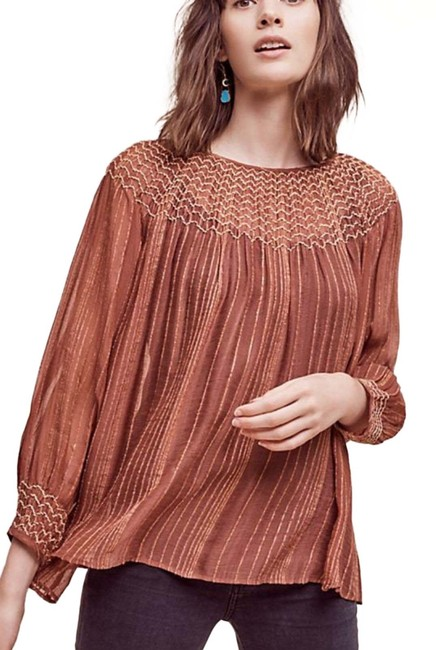 Preload https://img-static.tradesy.com/item/25703822/anthropologie-pink-peasant-style-blouse-size-6-s-0-1-650-650.jpg