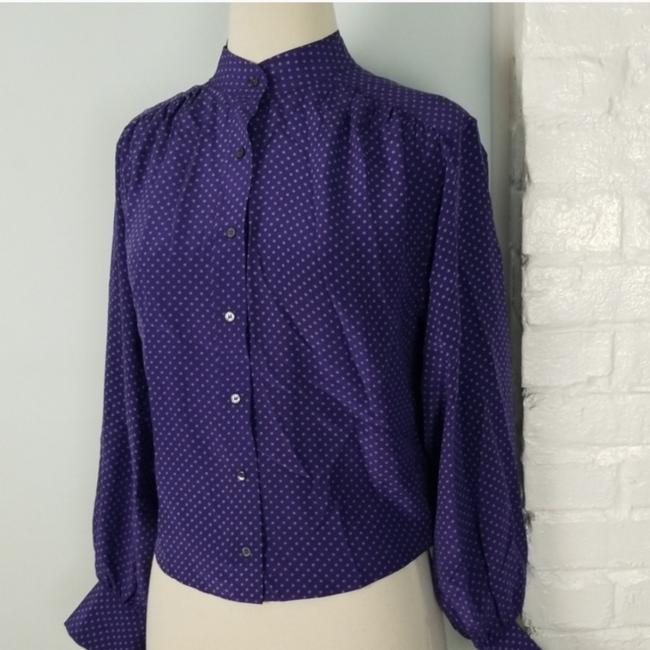 Club Monaco Top Purple & white Image 2