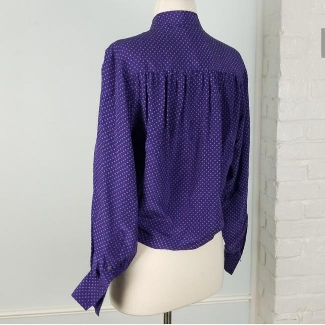 Club Monaco Top Purple & white Image 4