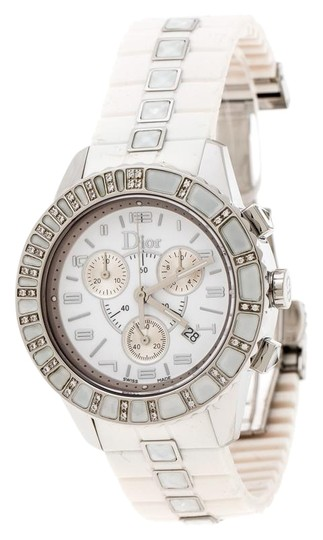 Preload https://img-static.tradesy.com/item/25703834/dior-silver-white-stainless-steel-christal-cd114311-women-s-wristwatch-38-mm-watch-0-1-540-540.jpg