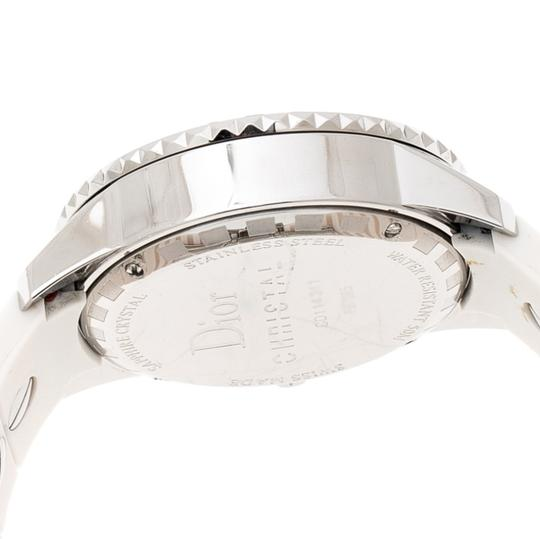 Dior White Stainless Steel Christal CD114311 Women's Wristwatch 38 mm Image 2