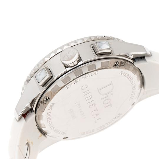 Dior White Stainless Steel Christal CD114311 Women's Wristwatch 38 mm Image 3