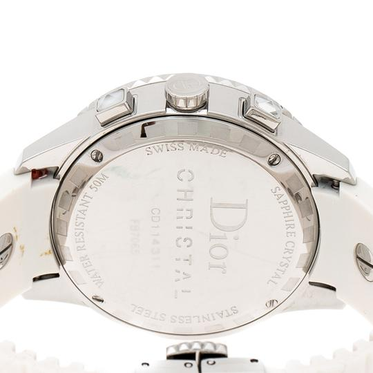 Dior White Stainless Steel Christal CD114311 Women's Wristwatch 38 mm Image 4