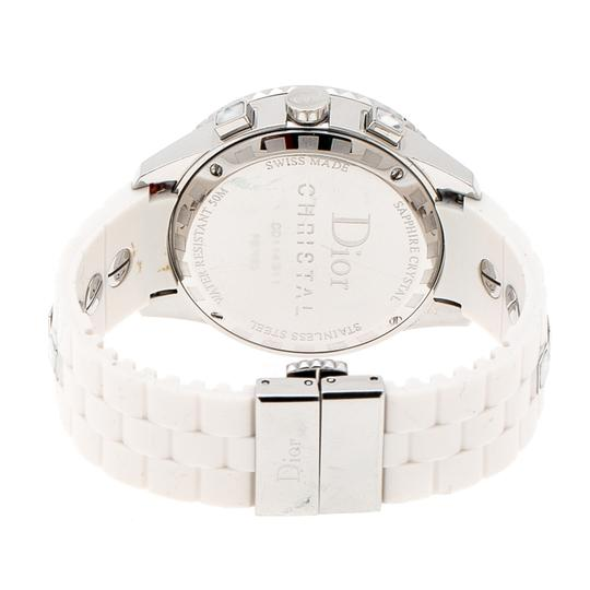 Dior White Stainless Steel Christal CD114311 Women's Wristwatch 38 mm Image 5