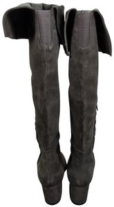 Vince Camuto Riding Equestrian Fashion Tall Gray Boots