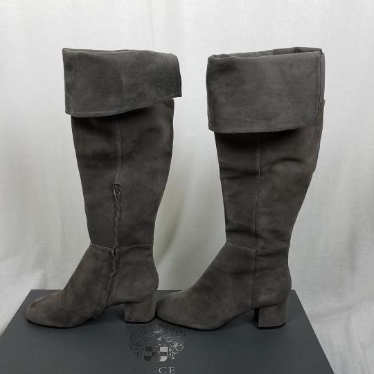 Vince Camuto Riding Equestrian Fashion Tall Gray Boots Image 5