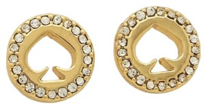 Kate Spade KATE SPADE Spot The Spade Halo Pave Stud Earrings O0RU2605