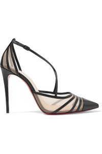 Christian Louboutin Theodorella Mesh Leather black Pumps
