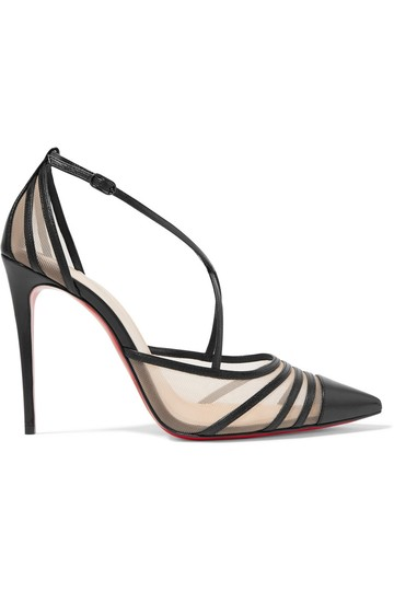 Christian Louboutin Theodorella Mesh Leather black Pumps Image 0