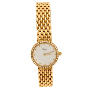 Chopard White 18K Yellow Gold Classic 105911001 Women's Wristwatch 32 mm