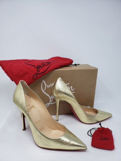 Christian Louboutin Decoltish Metallic So Kate Pigalle Pointed Toe Gold Pumps Image 1