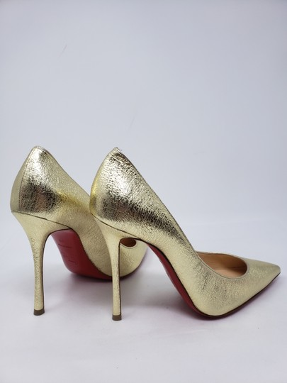 Christian Louboutin Decoltish Metallic So Kate Pigalle Pointed Toe Gold Pumps Image 10