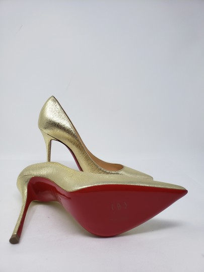 Christian Louboutin Decoltish Metallic So Kate Pigalle Pointed Toe Gold Pumps Image 11
