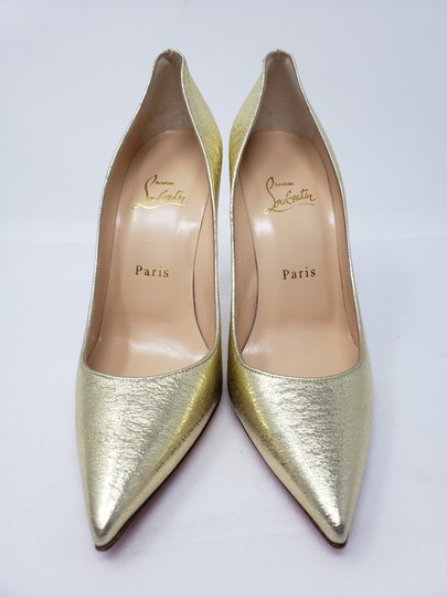 Christian Louboutin Decoltish Metallic So Kate Pigalle Pointed Toe Gold Pumps Image 5