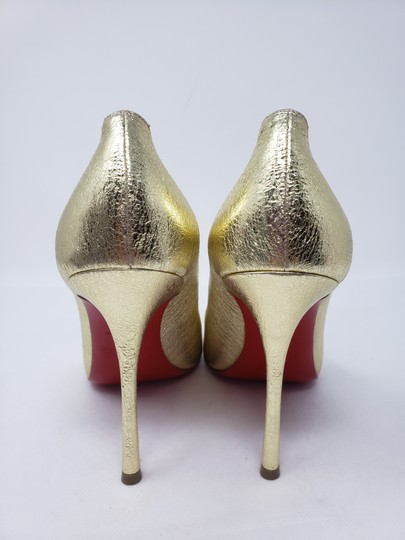 Christian Louboutin Decoltish Metallic So Kate Pigalle Pointed Toe Gold Pumps Image 8