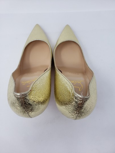 Christian Louboutin Decoltish Metallic So Kate Pigalle Pointed Toe Gold Pumps Image 9
