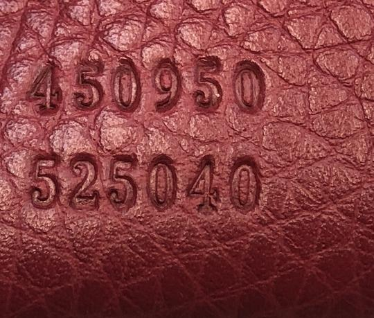 Gucci Convertible Soft Open Leather Tote in red Image 5