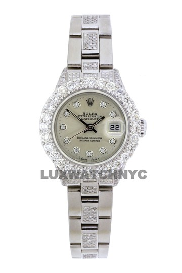 Rolex 5ct Ladies 26mm Datejust Stainless with Appraisal Image 9