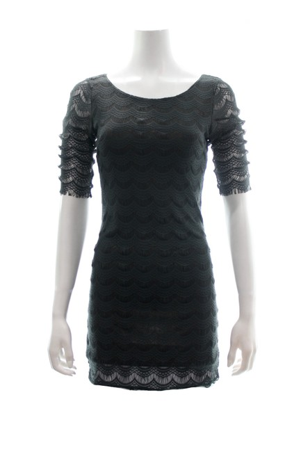 Item - Brown 3/4 Sleeved Bodycon Mini Short Casual Dress Size 4 (S)