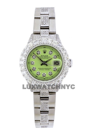 Preload https://img-static.tradesy.com/item/25703973/rolex-green-dial-5ct-ladies-26mm-datejust-stainless-with-appraisal-watch-0-0-540-540.jpg