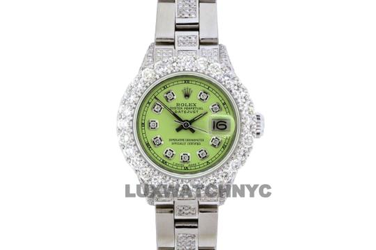 Rolex 5ct Ladies 26mm Datejust Stainless with Appraisal Image 1