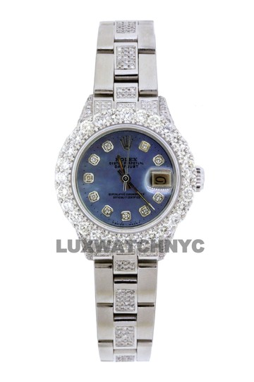 Preload https://img-static.tradesy.com/item/25703982/rolex-blue-mop-dial-5ct-ladies-26mm-datejust-stainless-with-appraisal-watch-0-0-540-540.jpg