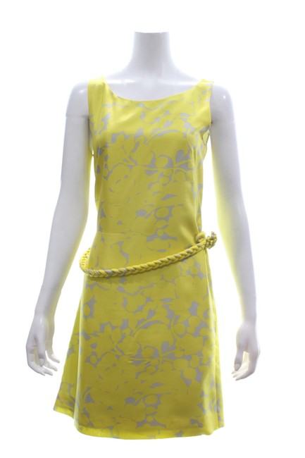 Preload https://img-static.tradesy.com/item/25703993/jcrew-yellow-floral-sleeveless-silk-short-cocktail-dress-size-8-m-0-0-650-650.jpg