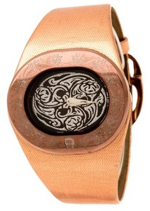 Etienne Aigner Brown Tone Stainless Steel Ravello A21000 Women's Wristwatch 43 mm