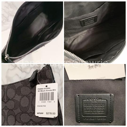 Coach Monogram Leather Zip Top Round Slouchy Shoulder Bag Image 4
