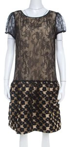 RED Valentino short dress Beige Lace Floral on Tradesy
