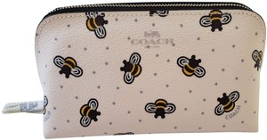 Coach NEW Coach cute Bee bees Print Cosmetic Case makeup bag Pouch