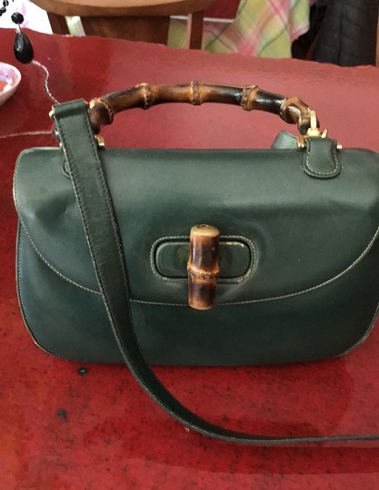 Gucci Satchel in Green Image 1