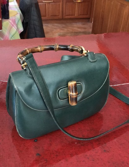 Gucci Satchel in Green Image 2