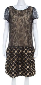 RED Valentino short dress Beige Floral Lace on Tradesy