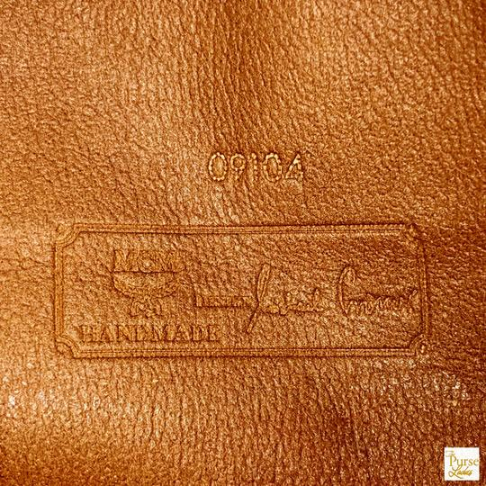 MCM Visetos Cognac Monogram Brown Clutch Image 11