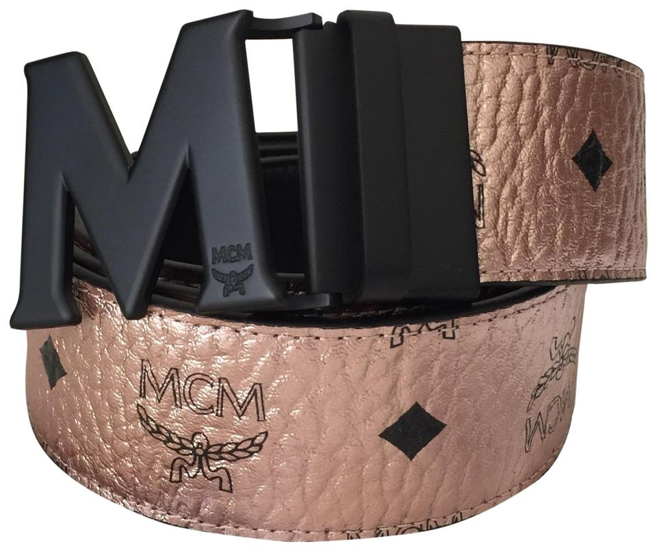 9355348716ee2 MCM Champagne Gold Reversible Belt - Tradesy