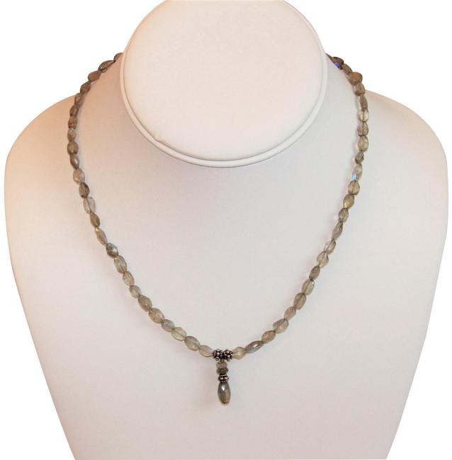 """Labradorite and Sterling Silver 17"""" Necklace Labradorite and Sterling Silver 17"""" Necklace Image 1"""
