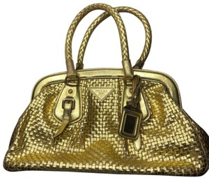 Prada Satchel in gold