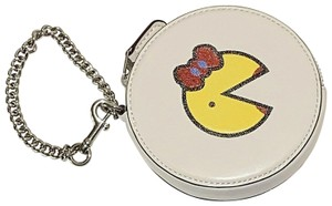 Coach Woc Chain Wallet On Chain Cards Cash Coins Gift Travel Cosmetic Pouch Rare Limited White/silver/red/yellow Clutch